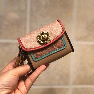 ❀Coach Mini Parker Bag Charm In Colorblock